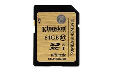 KINGSTON ULTIMATE SD XC SDXC UHS-1 U1 CLASS 10 64GB 64G 64 G GB MEMORY CARD NEW