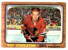 1X PAT STAPLETON 1966-67 Topps #57 EX Blackhawks