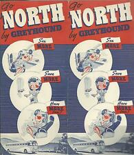 Greyhound Bus Vintage 1939 Brochure Northern Trips From Florida Photos Route Map