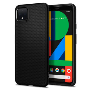 Google Pixel 4 Pixel 4 XL Case Spigen®[Liquid Air] Matte Black Slim Grip Cover