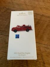 Hallmark Keepsake Ornament 2010 1951 Ford Fire Engine Fire Brigade #8 Series