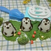 Penguin Sushi Mould Maker Press Rice Ball Mold Bento Cutter For Kids Meal