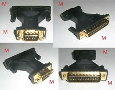 9 Pin MALE to 25 Pin MALE External Parallel Serial Connector Converter NIKKAI