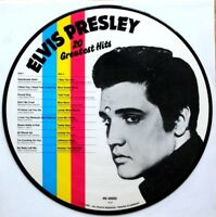 EX! ELVIS  PRESLEY 20 GREATEST HITS VINYL PICTURE PIC DISC LP DANISH DENMARK