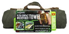 McNett Tactical Ultra Compact  Microfiber Towel  Silver Performance OD Green XL
