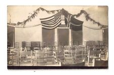 RPPC USA AMERICAN FLAG NORWAY NORWEGIAN FLAG Real Photo Postcard vintage antique