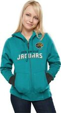 Jacksonville Jaguars Chant Hoodie 2XL Ladies Teal Embroidered Logos Sexy NFL