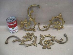 Antique 4 Brass Oil Kerosene Hanging Lamp Chandelier Ornamental Arms