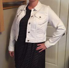 NWT Maurices Women's Plus Size White Jean Jacket Size 2