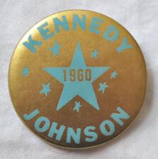 JOHN F. KENNEDY - LYNDON B. JOHNSON 1960 CAMPAIGN UNUSUAL GOLD 8 STARS PINBACK