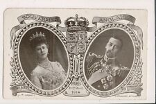 Vintage Postcard King George V & Queen Mary of Great Britain