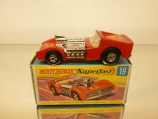 MATCHBOX SUPERFAST 19 ROAD DRAGSTER - RED - VERY GOOD CONDITION IN BOX