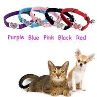 Crystal Dog Cat Adjustable Collar Puppy Velvet Accessories Pet Necklace Supplies