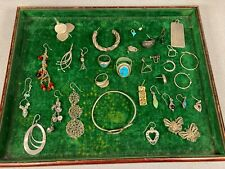 A Lot of 925 Sterling Silver Single Earrings, rings & other Jewelry Scrap