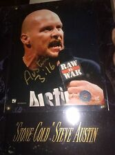 STONE COLD STEVE AUSTIN AUTOGRAPHED Signed 8 X 10 PHOTO WALL PLAQUE COA WWE WWF
