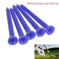 "20Pcs 2.76"" Zero Friction Round Head Plastic Golf Tees Tool Training Ran OZ FT"
