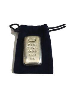 100g Albion Silver Bullion Bar - 999 Fine Silver