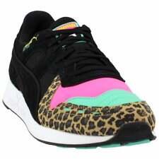 Puma Rs-100 Party Cheetah Sneakers Casual    - Black - Mens
