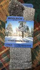 WOOLRICH  Size Large Socks Merino Wool Blend Pack of 2 MSRP $25 Mens Women's L