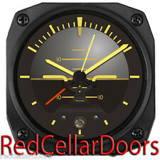 "New TRINTEC VINTAGE ARTIFICIAL HORIZON Alarm Clock Aviation DM63V 3.5"""
