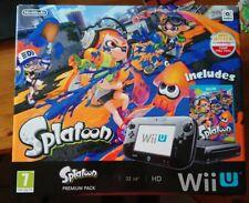 Brand New Nintendo Wii U Splatoon Premium Edition 32GB Black Console PAL RARE