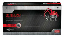 Venom VEN6145N Steel Premium Industrial Nitrile Gloves - Black (100 Piece)