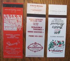 NORTHLAKE, ILLINOIS: LOT OF 3 DIFFERENT MATCHBOOK MATCHCOVERS -F