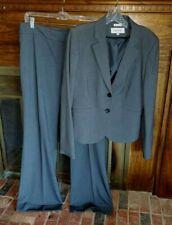 Calvin Klein Business Career Charcoal Gray Wide Leg Pant Suit Sz 10 NWOT