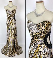 New Jovani 6437 Authentic Gold/Multi Full-Length Beaded Women Evening Dress 4