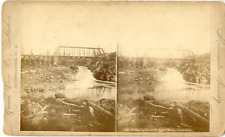 USA, Minnesota Vintage stereocard print Tirage albuminé  11x18  1900  <div