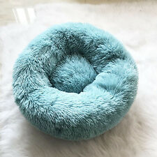 Pet Calming Bed for Cat Dog 50cm S Blue Soft Plush Nest Warm Comfort Mat Kennel