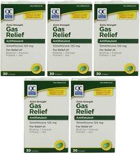 5 Pk Quality Choice Extra Strength Gas Relief Simethicone 125mg Softgel 30 Ct ea
