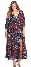 """Gorgeous CITY CHIC """"Puzzle Piece"""" Luxe Floral Print Maxi Plus Size 20"""