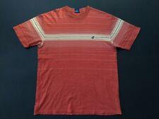 Vintage Hang Ten Striped T-shirt Big Logo Crew neck Hawaii Surfer size L