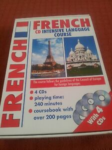 NEW French CD Intensive language course, Course book, 4 x CD's,