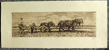 Vintage Etching Waalko Jans Dingemans Dutch 1873-1925 Signed, Numbered Date 1902