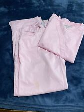 Grey'S Anatomy Women's Small Top Med Bottoms Pink Scrub Set Barco