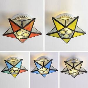 Colorful Glass Star Hallway Ceiling Lamp Porch Corridor Balcony Ceiling Lights
