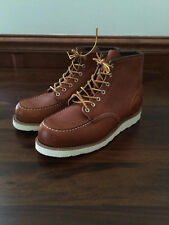 Red Wing x Jcrew Coll Moc Toe 875 Beckman Boots $280 12 leather legacy tan e1348
