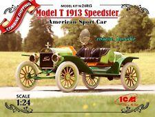 ICM 24015 Model T 1913 Speedster American Sport Car Plastic Model Kit 1/24