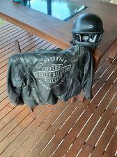 Harley Davidson Leather jacket and helmet