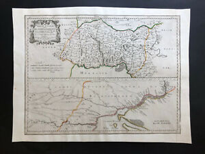 054 Antique Original 1665 map of Ukraine, Podolia, Poland Guillaume Sanson RARE