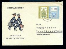 1961 East German Zone Leipzig Fall Fair 1St Day Cover-F-Vf