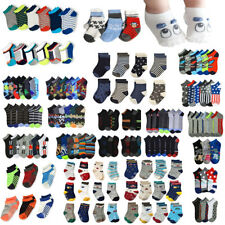 Lot 12 Pair Toddler Boy Children Kid Socks Mixed Design Spandex Ankle Crew 0-12