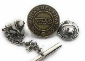 PHILADELPHIA 16MM (SMALL) SUBWAY TOKEN TIE TACK / LAPEL PIN
