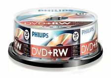 PHILIPS DVD+RW 120 MIN VIDEO 4.7GB DATOS 4X VELOCIDAD BLANCO DISCOS SOPORTE 25