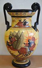 Poseidon & Goddess Athena - Apollo Helios - Amphora Vase - Museum Replica