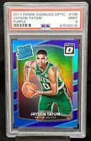 2017 Optic PURPLE HOLO REFRACTOR Celtics JAYSON TATUM Rookie Card PSA 9 MINT
