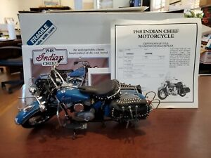 1948 Indian Chief 1:10 Danbury Mint DieCast Motorcycle, Good Condition
