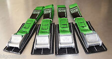 4-pack Bike Cycle Rack Carrier TOUGH cam straps PADDED L45cm GREEN